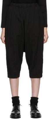 Comme des Garcons Black Drop Crotch Dobby Stripe Trousers