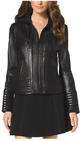 Michael Kors Hooded Leather Jacket