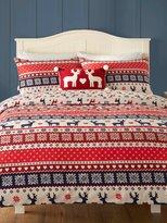 M&Co Brushed cotton festive fairisle duvet set