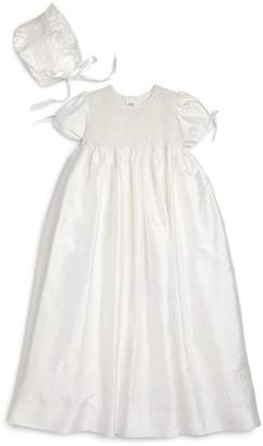 Isabel Garreton Baby Girl's 2-Piece Silk Christening Gown & Bonnet Set