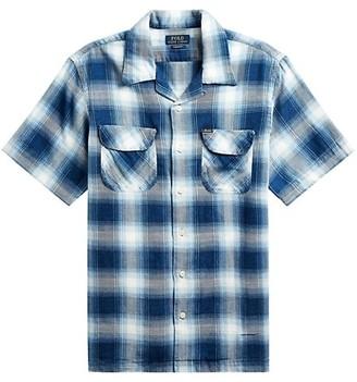 Polo Ralph Lauren Cotton-Twill Checkered Short-Sleeve Button-Front Shirt