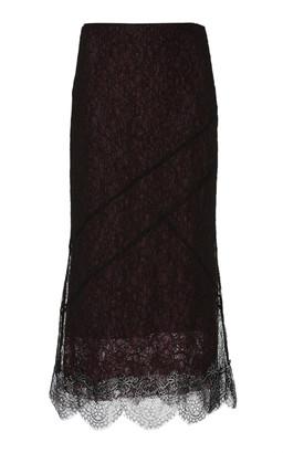 ANAÏS JOURDEN Two-Tone Lace Midi Skirt