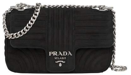 f51ef1576926 Prada Suede Handbag - ShopStyle