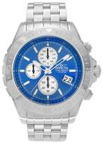 Invicta Men's 18849 Aviator Stainless Steel Chronograph Dial Link Bracelet Watch - Silver/Blue