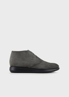 Giorgio Armani Calfskin Ankle Boots