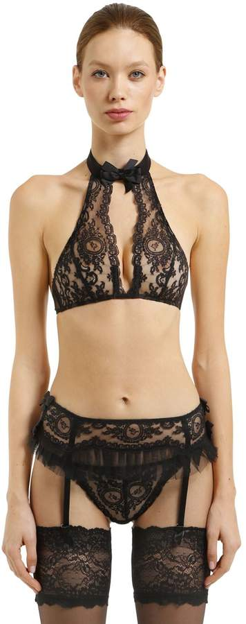 Chantal Thomass Nymphea Halter Bra