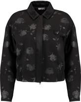 Nina Ricci Satin-trimmed floral-print wool-twill jacket