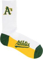 For Bare Feet Oakland Athletics Crew White 506 Socks