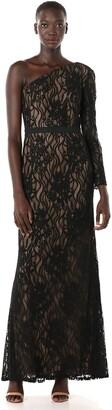 Tadashi Shoji Women's ONE Shldr L/S LACE Gown