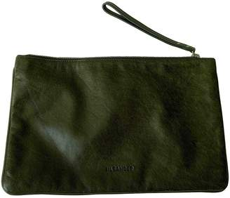 Jil Sander Green Leather Clutch bags