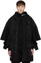 Kokon To Zai Black Jersey Patches Coat