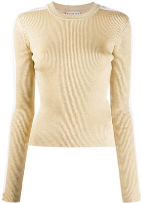 Fiorucci Side-Stripe Ribbed-Knit Jumper
