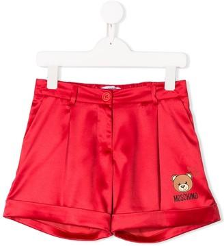 MOSCHINO BAMBINO Logo Patch Tailored Shorts