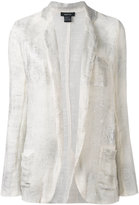 Avant Toi distressed knitted blazer - women - Cotton/Linen/Flax - S
