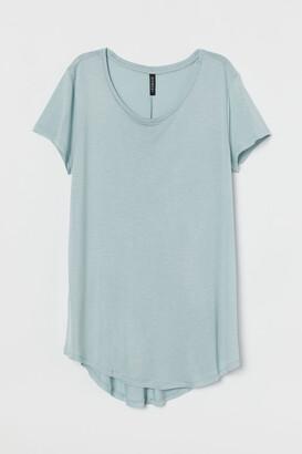 H&M Rounded-hem T-shirt