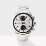 Paul Smith Men's White And Silver 'Block' Chronograph Watch