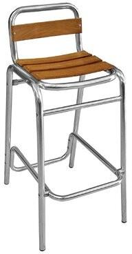 "Florida Seating 30"" Teak Patio Bar Stool"