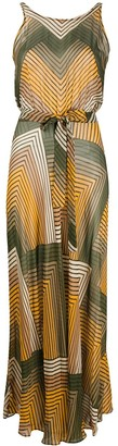 Twin-Set Twin Set zig zag maxi dress