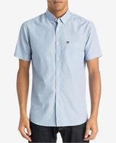 Quiksilver Men's Chambray Button-Down Short-Sleeve Shirt