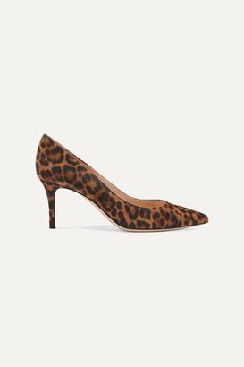Gianvito Rossi 70 Leopard-print Suede Pumps - Leopard print