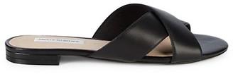Saks Fifth Avenue Tortuga Criss-Cross Leather Slides