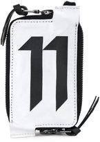 11 By Boris Bidjan Saberi logo print wallet