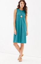 J. Jill Sleeveless Center-Pleat Knit Dress