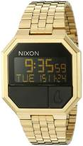 Nixon Re-Run A158502-00. Men's Digital Gold Watch (38.5mm Digital Watch Face. 13-18mm Band)