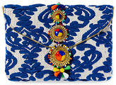 Steven By Steve Madden Embroidered Beaded Clutch