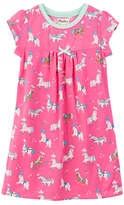 Hatley Children's Parade Horses Nightdress, Pink