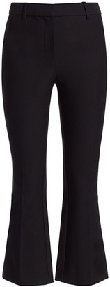 Derek Lam 10 Crosby Corinna Racing Stripe Crop Flare Tuxedo Pants