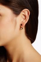 Simulated Diamond Roman Numeral Jacket Earrings