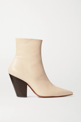 Simon Miller Pack Leather Ankle Boots - Beige