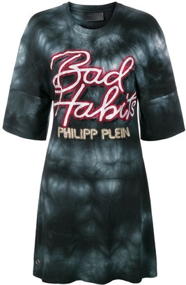 Philipp Plein Bad Habits T-shirt dress