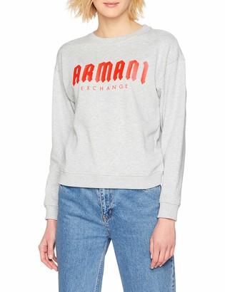 Armani Exchange Women's Gothic Writing Sweatshirt