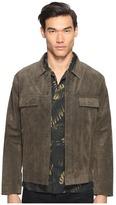 Vince Suede Trucker Jacket Men's Coat
