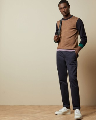 Ted Baker Colour Block Wool Blend Jumper