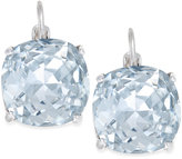 Kate Spade Silver-Tone Baby Blue Crystal Small Drop Earrings