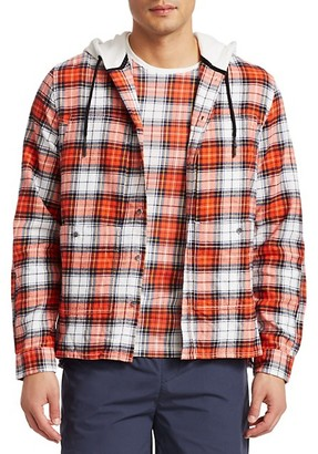 Madison Supply Hooded Check Flannel Pocket Shirt