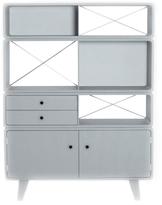 Laurette Enigma Bookcase - Light Grey