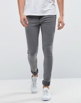 Only & Sons Super Extreme Skinny Washd Grey Jeans