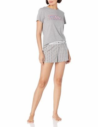 Tommy Hilfiger Women's Top and Short Bottom Pajama PJ Set