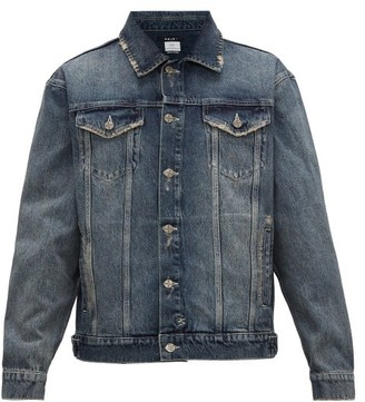 Ksubi Distressed Denim Jacket - Mens - Blue