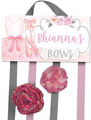 Toad And Lily Toad and Lily Hair Bows pink - Pink Ballerina Personalized Hair Bow Holder