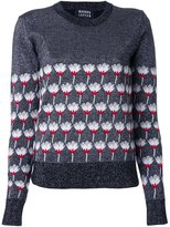 Markus Lupfer floral pattern pullover - women - Wool - XS