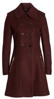GUESS Women's Double Breasted Boiled Wool Peacoat