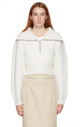 Jacquemus White La Maille Risoul Sweater