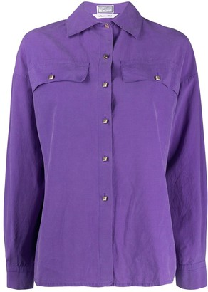 Versace Pre Owned 1980's Cutaway Collar Shirt