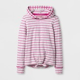 Cat & Jack Girls' Long Sleeve Tie Front Pullover Top