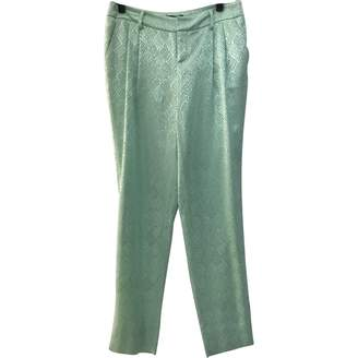 Catherine Malandrino Green Silk Trousers for Women